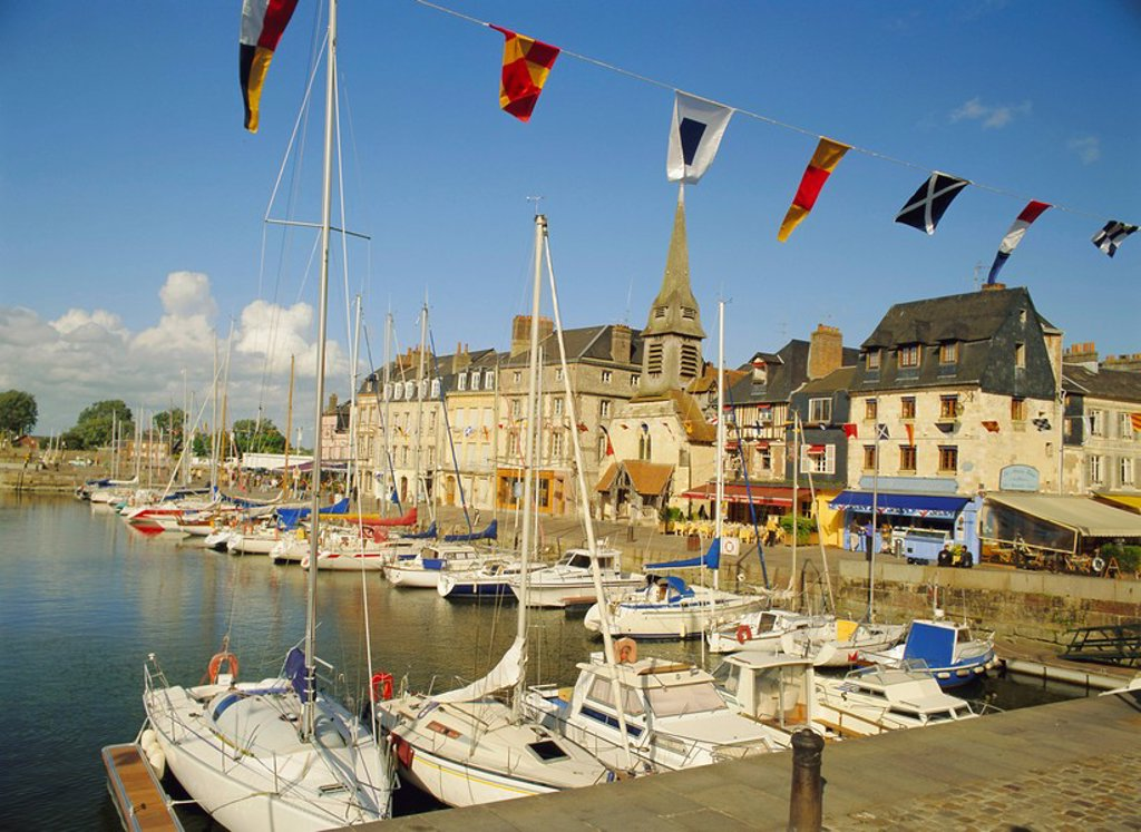 Stock Photo: 1890-62740 The old harbour, Honfleur, Normandy, France