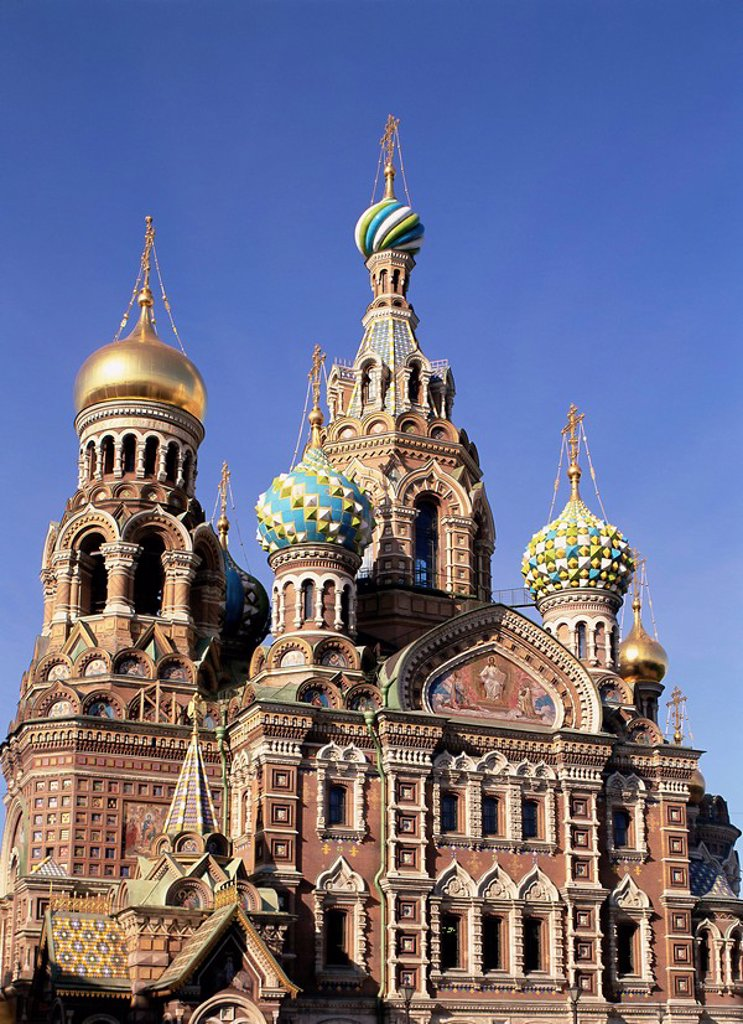 Stock Photo: 1890-62762 The Christian Church on Spilled Blood Church of the Resurrection of Christ, St. Petersburg, Russia, Europe