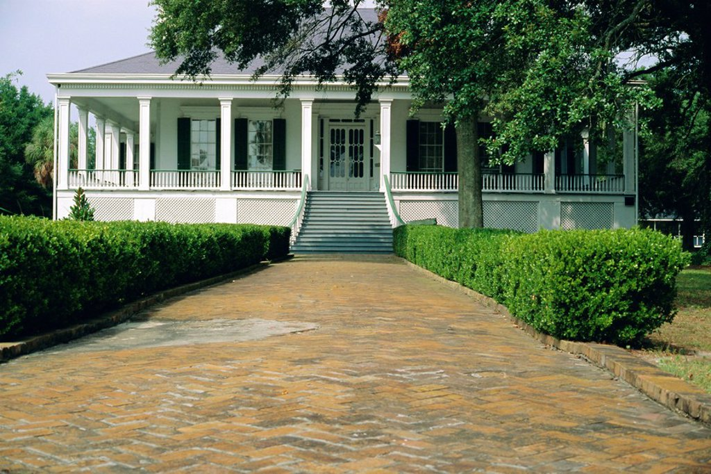 Stock Photo: 1890-63436 Beauvoir, a 19th century ante_bellum mansion, last home of Confederate President Jefferson Davis, Biloxi, Mississippi, USA, North America
