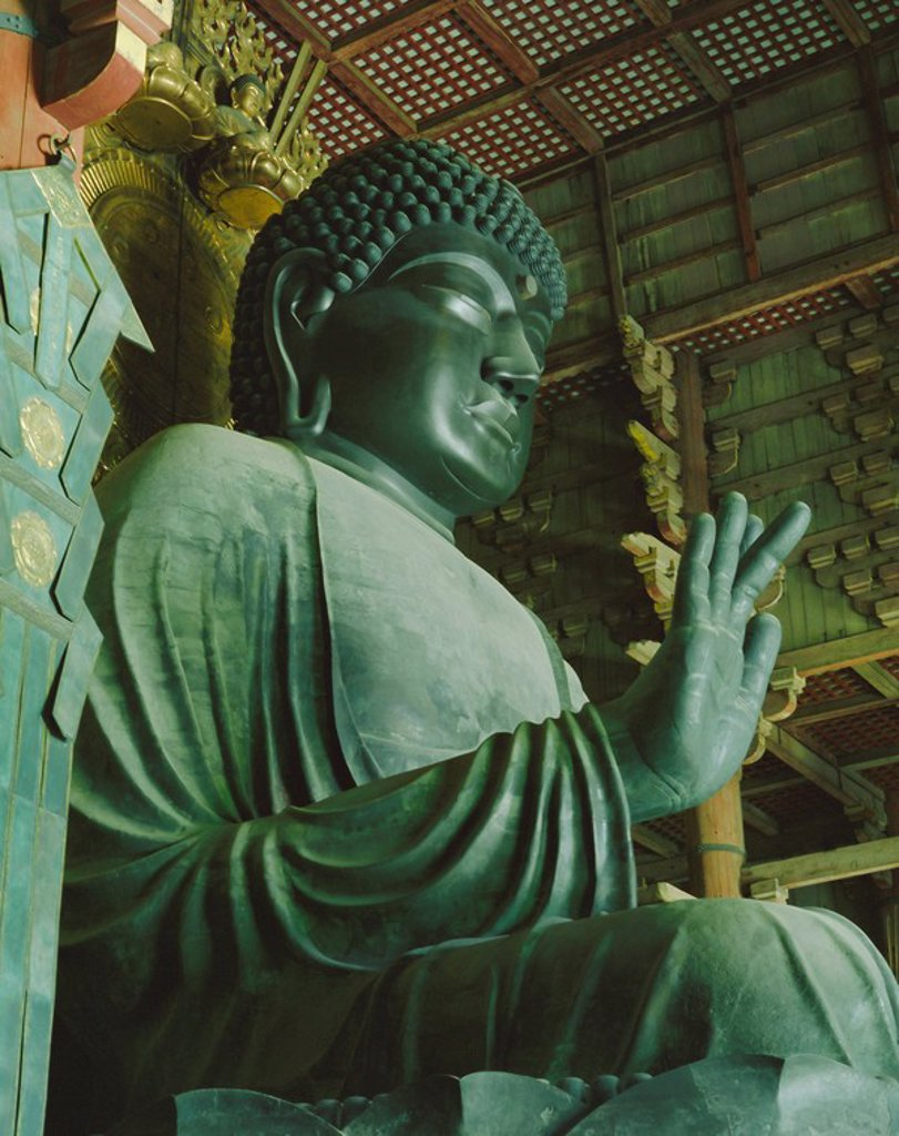 Stock Photo: 1890-63506 Buddha statue, Todaiji Temple, Nara, Honshu, Japan, Asia