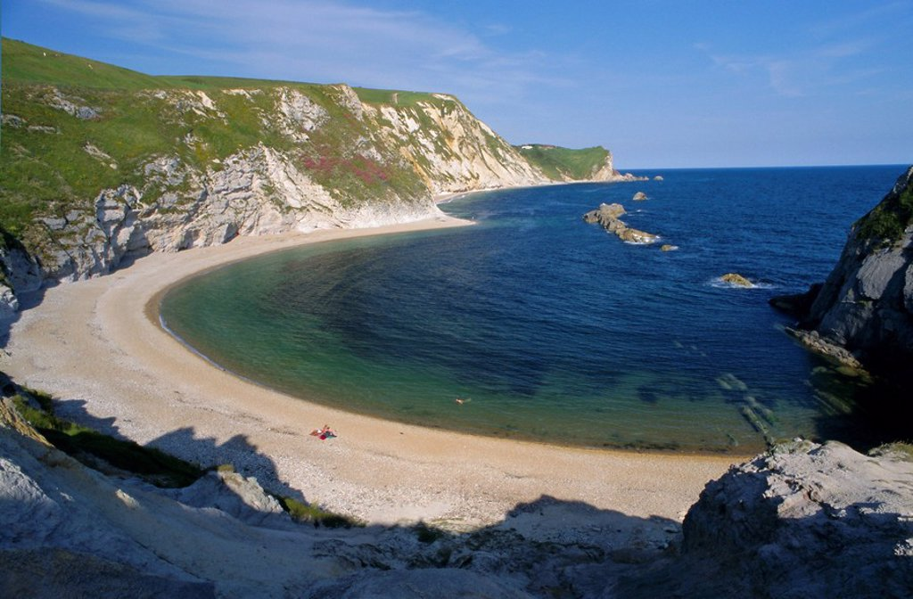 Stock Photo: 1890-63864 Man O´War Cove, between Lulworth Cove and Durdle Door, Dorset, England, UK, Europe