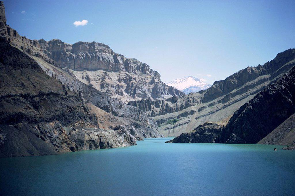 Karaj Dam Lake, Iran, Middle East : Stock Photo
