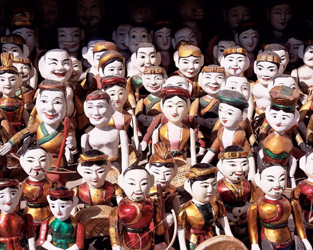 Stock Photo: 1890-64119 Water puppets, Hanoi, Vietnam, Indochina, Southeast Asia, Asia