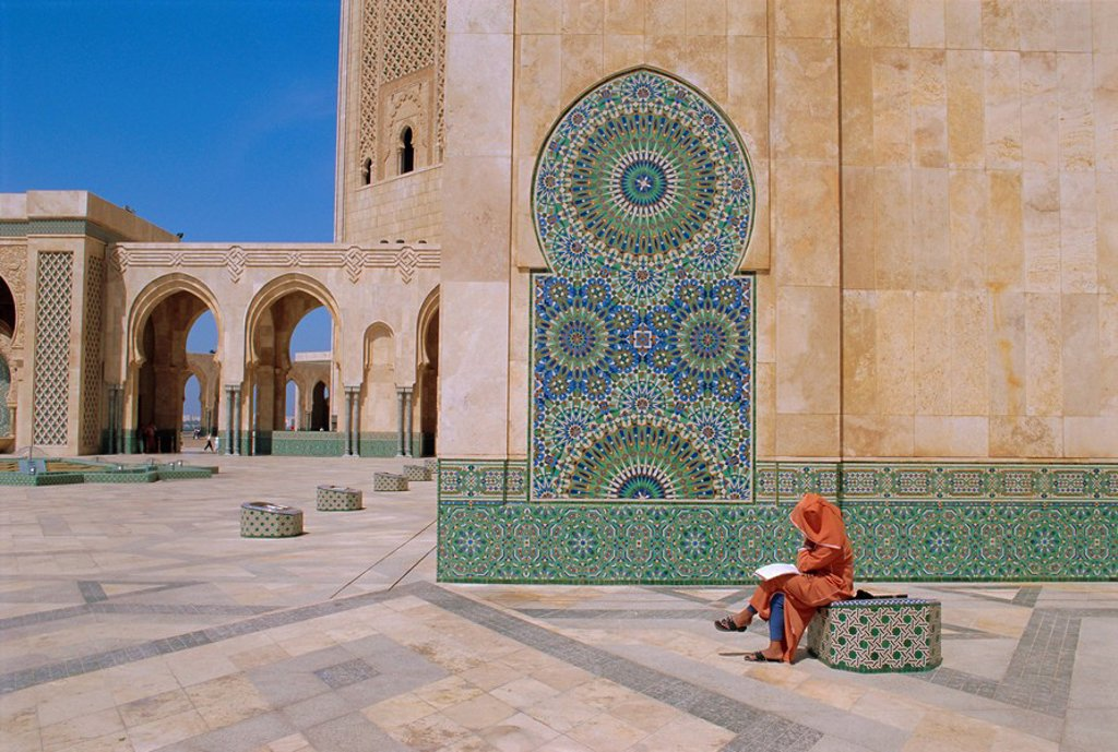 Stock Photo: 1890-65197 Hassan II Mosque, Casablanca, Morocco