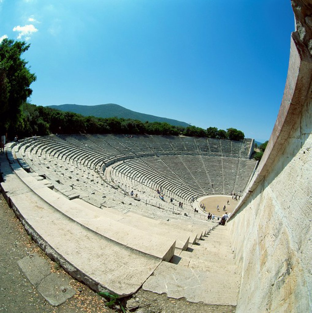 Stock Photo: 1890-6537 The theatre at the archaeological site of Epidavros, UNESCO World Heritage Site, Greece, Europe