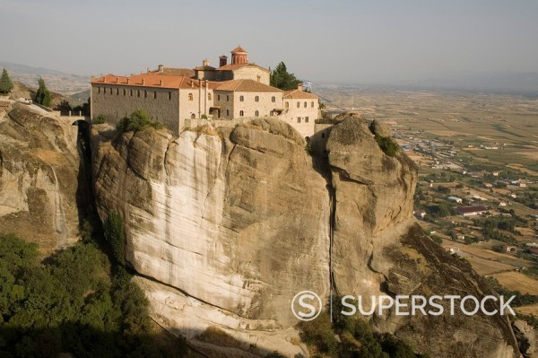 St. Stephans Nunnery, formerly a monastery, Meteora, UNESCO World Heritage Site, Thessaly, Greece, Europe : Stock Photo