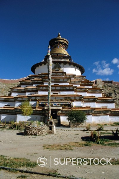 Stock Photo: 1890-66155 Kumbum stupa, Pelkor Chode monastery, Gyanze Gyantse, Tibet, China, Asia