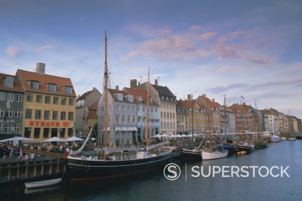 Nyhavn, Copenhagen, Denmark, Scandinavia, Europe : Stock Photo