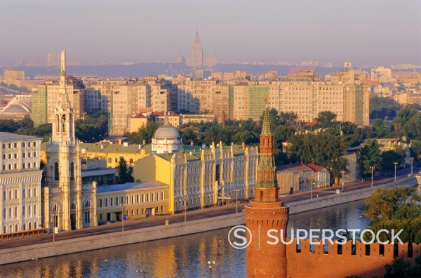 Moskva River, Moscow, Russia : Stock Photo