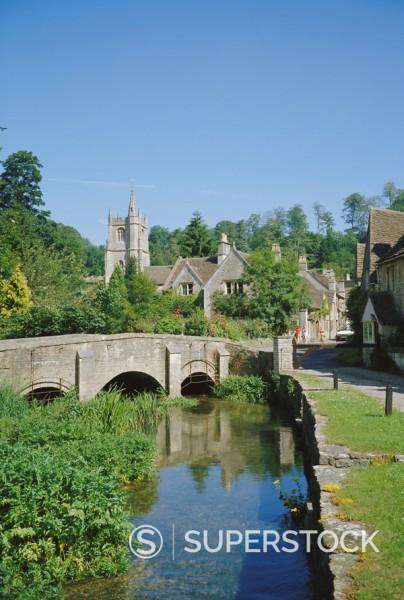 Stock Photo: 1890-66953 Castle Combe, Wiltshire, England, UK, Europe