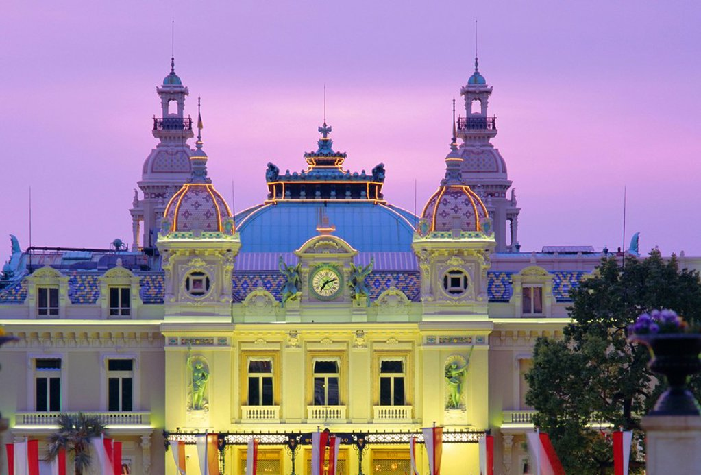Stock Photo: 1890-67676 The Casino, west front, Monte Carlo, Monaco, Europe
