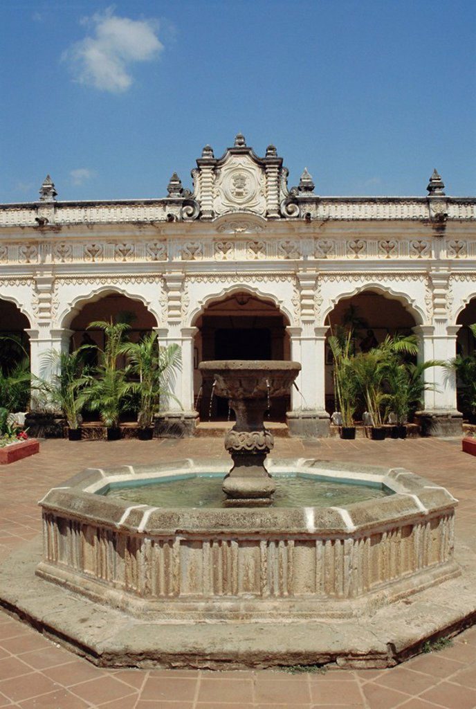 University of San Carlos 1681, now Colonial Art Museum, Antigua, Guatemala, Central America : Stock Photo