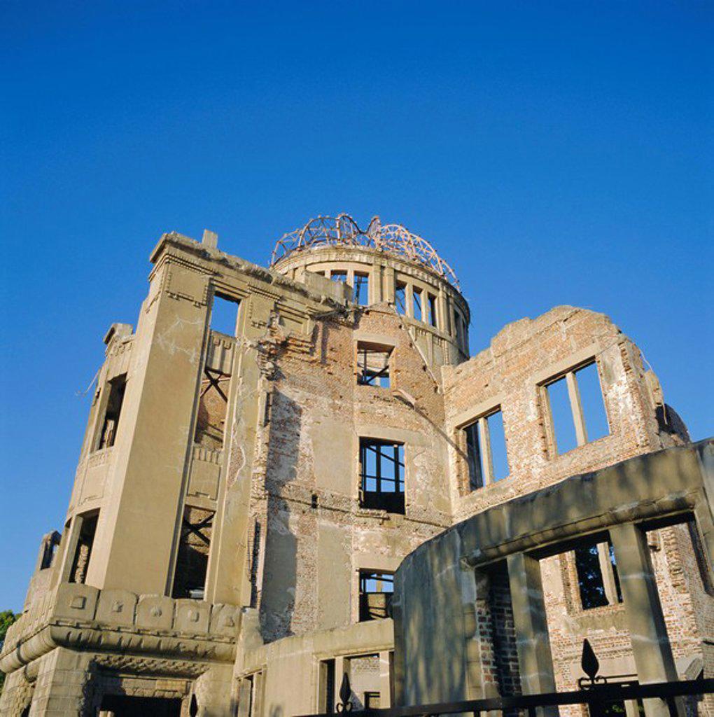 Stock Photo: 1890-67762 Atomic Bomb Dome, Hiroshima Memorial, Hiroshima, Japan