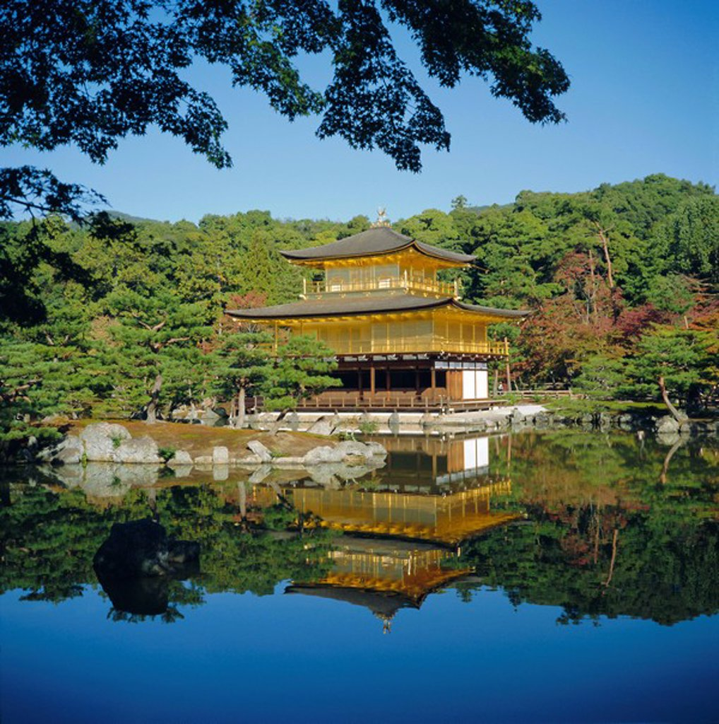 Stock Photo: 1890-67787 Kinkaku_ji ´Golden´ Temple, Kyoto, Kansai, Japan