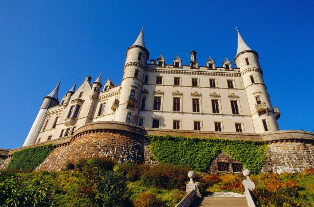 Stock Photo: 1890-67858 Dunrobin Castle and grounds, near Golspie, Sutherland, Highlands Region, Scotland, UK, Europe