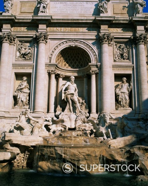 Stock Photo: 1890-67897 Trevi Fountain Fontana di Trevi, Rome, Lazio, Italy, Europe