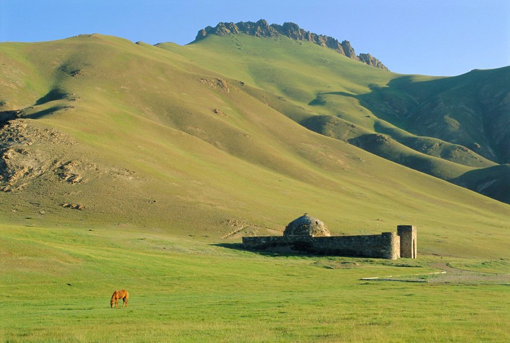 Stock Photo: 1890-68083 Tash Rabat Caravanserai, south of Naryn, Kyrgyzstan, Central Asia