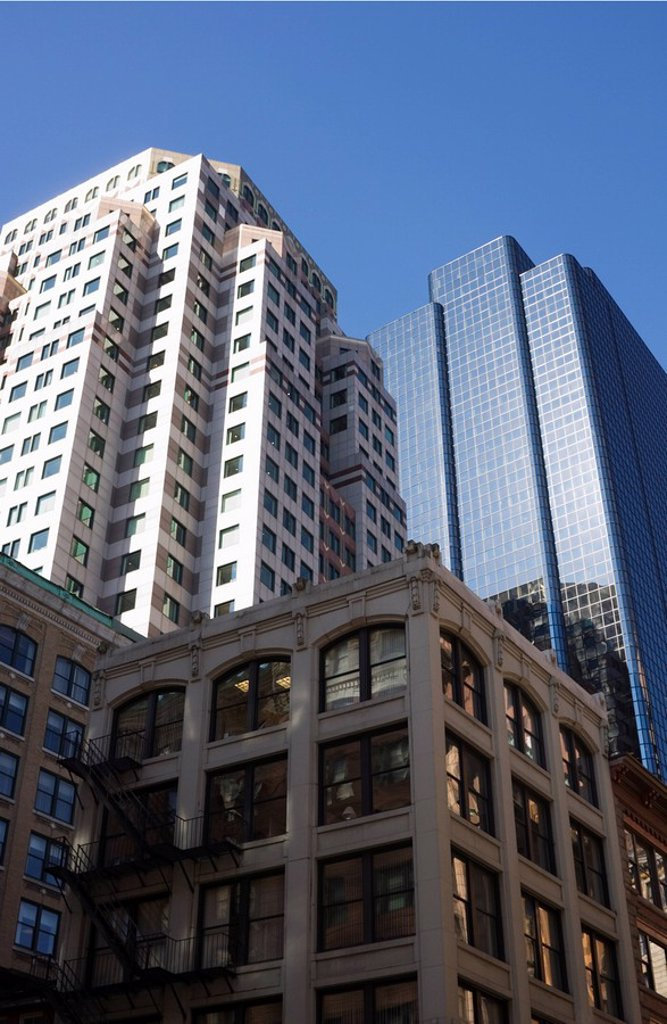 Stock Photo: 1890-68316 Buildings in the Financial District, Boston, Massachusetts, USA