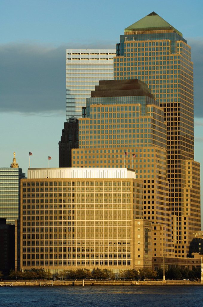 World Financial Center Buildings, Manhattan, New York City, New York, United States of America, North America : Stock Photo