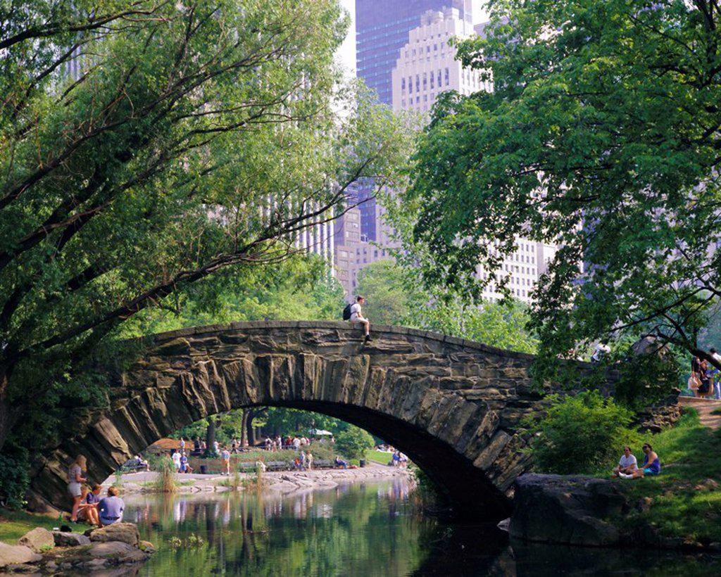 Stock Photo: 1890-69480 The Pond, Central Park, New York, USA