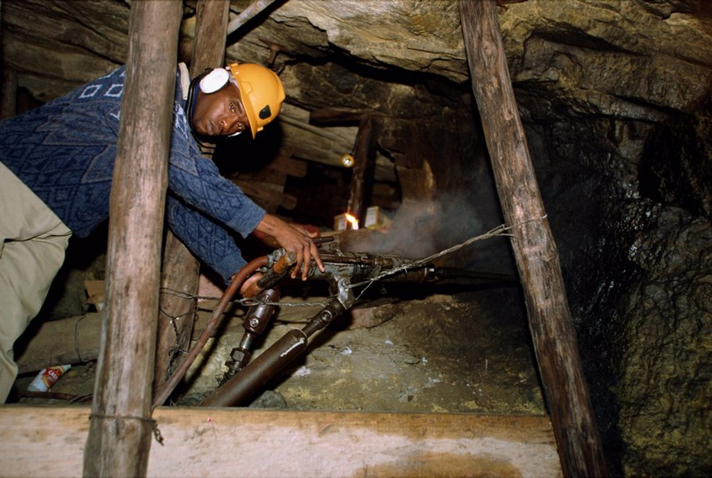 Stock Photo: 1890-6965 A gold mine shaft, South Africa, Africa