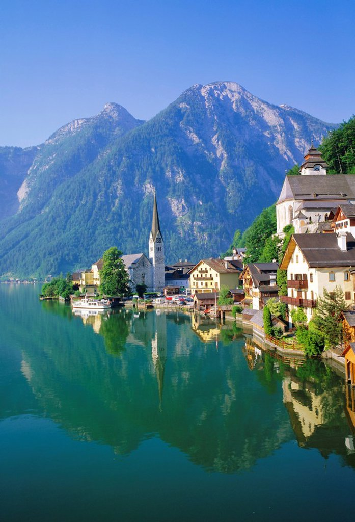 Hallstatt, Salzkammergut, Austria : Stock Photo