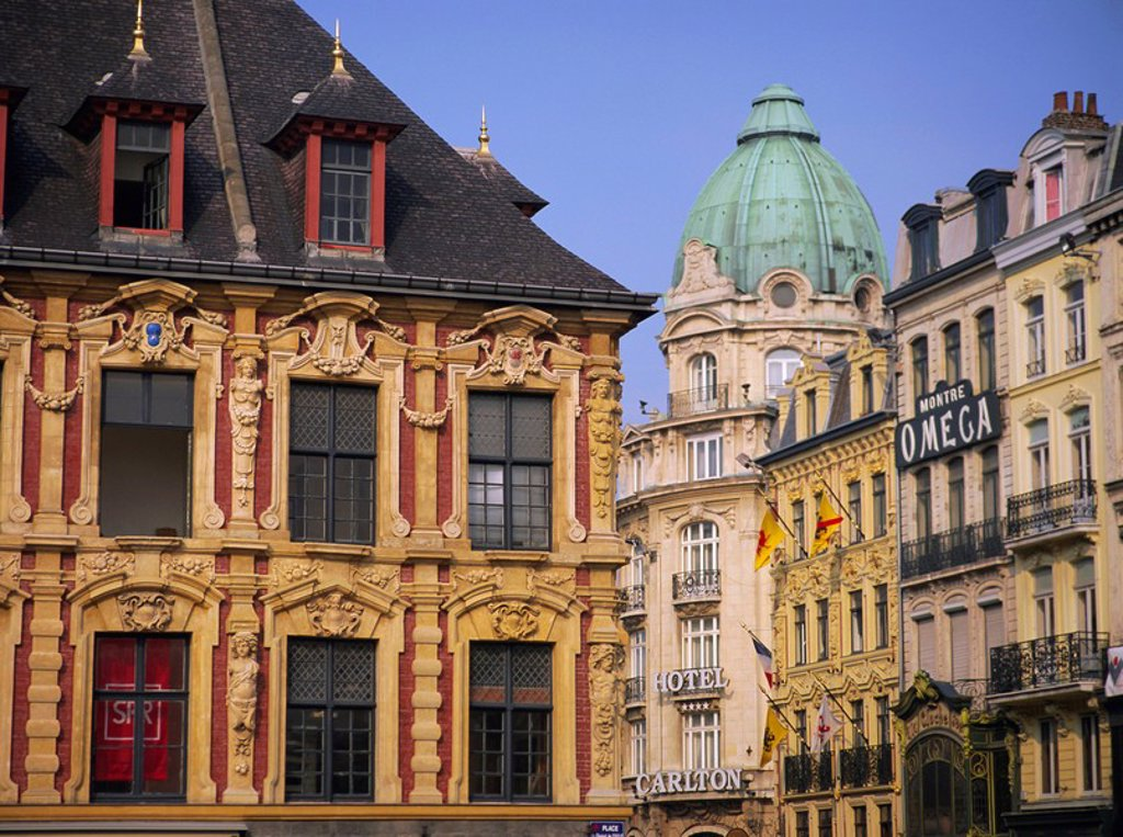 Stock Photo: 1890-70281 Grand Place, Lille, Nord Pas de Calais, France, Europe