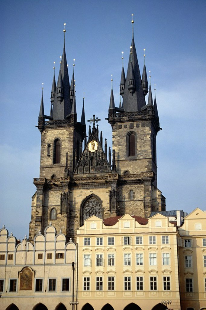 Stock Photo: 1890-70935 Tyn church, Old Town Square, Prague, UNESCO World Heritage site, Czech Republic, Europe
