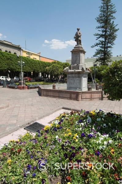 Plaza de la Independencia Plaza de Armas in Santiago de Queretaro Queretaro, a UNESCO World Heritage Site, Queretaro State, Mexico, North America : Stock Photo