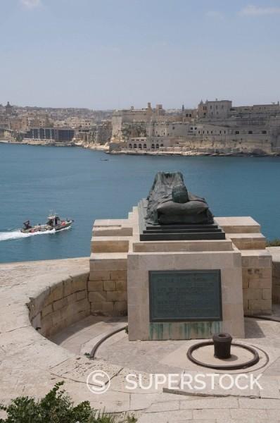 Stock Photo: 1890-71406 Memorial to Second World War, near Fort St. Elmo, Valletta, Malta, Europe
