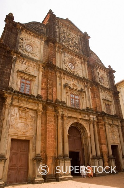 Stock Photo: 1890-71691 The Basilica of Bom Jesus, built 1594, Old Goa, Goa, India