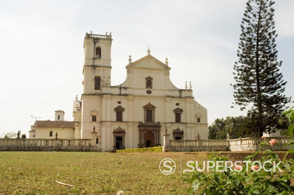 Stock Photo: 1890-71696 Se Cathedral, thought to be Asia´s biggest church, Old Goa, Goa, India