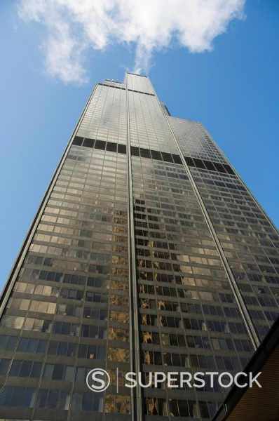 Stock Photo: 1890-71804 Sears Tower, Chicago, Illinois, USA