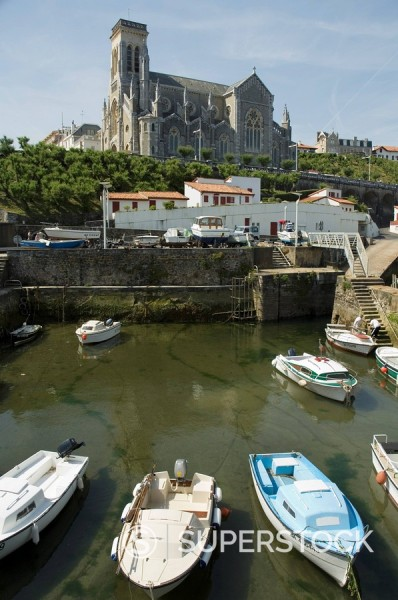 Stock Photo: 1890-71859 Fishing port, Biarritz, Basque country, Pyrenees_Atlantiques, Aquitaine, France, Europe
