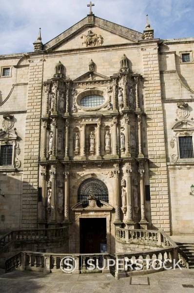 Stock Photo: 1890-72004 Church of San Martin Pinario, Santiago de Compostela, Galicia, Spain, Europe