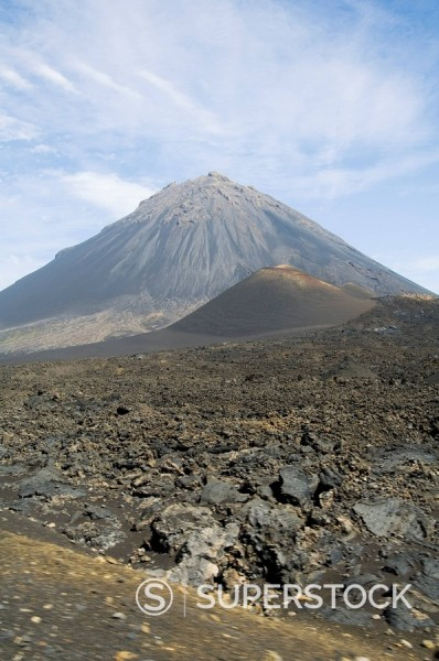 Stock Photo: 1890-72127 The volcano of Pico de Fogo in the background, Fogo Fire, Cape Verde Islands, Africa