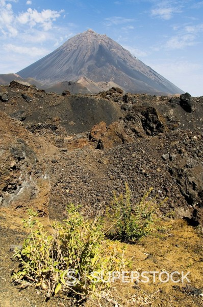 Stock Photo: 1890-72128 The volcano of Pico de Fogo in the background, Fogo Fire, Cape Verde Islands, Africa