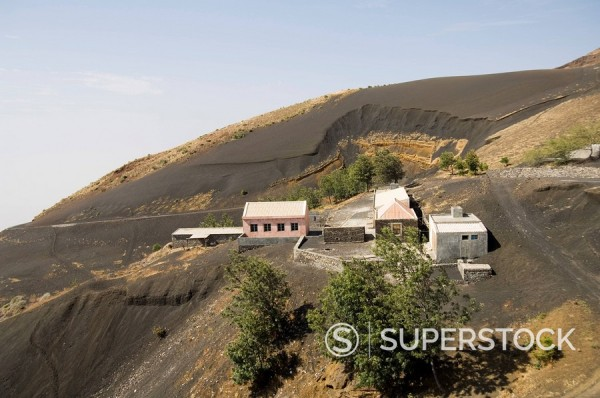 Stock Photo: 1890-72130 Countryside on way to the volcano, Fogo Fire, Cape Verde Islands, Africa