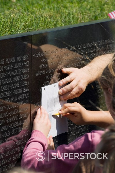 Stock Photo: 1890-72244 Vietnam Veterans Memorial Wall, Washington D.C. District of Columbia, United States of America, North America