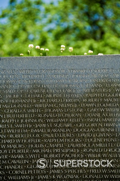 Vietnam Veterans Memorial Wall, Washington D.C. District of Columbia, United States of America, North America : Stock Photo