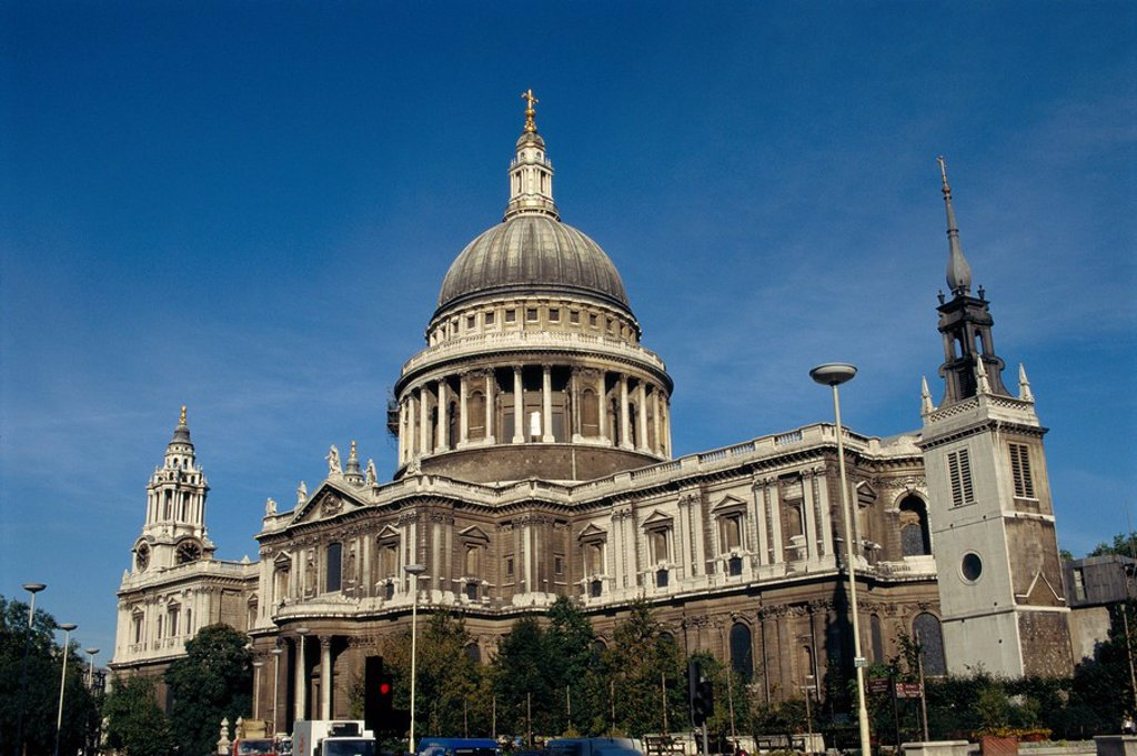 Stock Photo: 1890-72702 St.Paul´s Cathedral, London, England, UK
