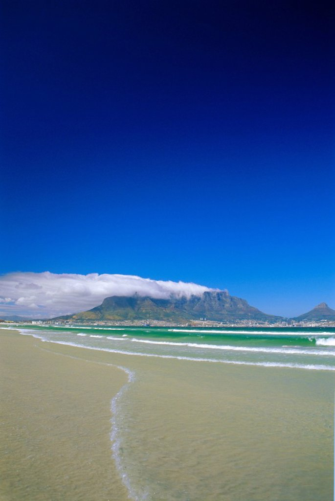 Table Mountain from Bloubergstrand, Cape Town, South Africa : Stock Photo