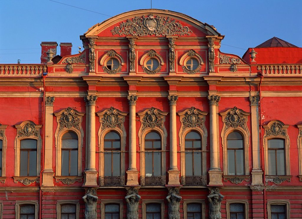 Stock Photo: 1890-7388 Facade of Belozersky Palace, St. Petersburg, Russia, Europe