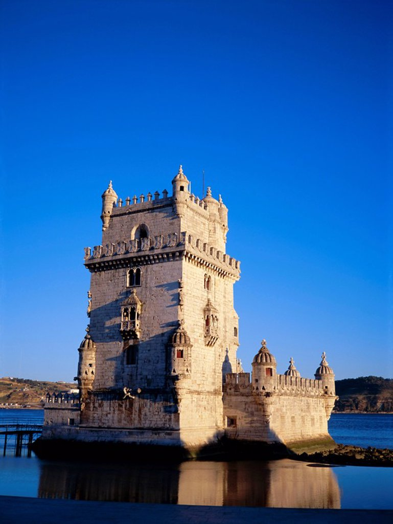 Torre de Belem Tower of Belem, built 1515_1521 on Tagus River, UNESCO World Heritage Site, Lisbon, Portugal, Europe : Stock Photo