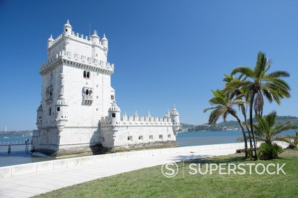 Stock Photo: 1890-74737 Belem Tower Torre de Belem, UNESCO World Heritage Site, Belem, Lisbon, Portugal, Europe