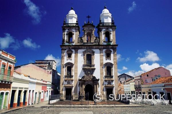 Stock Photo: 1890-75061 Catedral de Sao Pedro dos Clerigos, a Portuguese colonial baroque church, Recife, Per. Brazil, South America