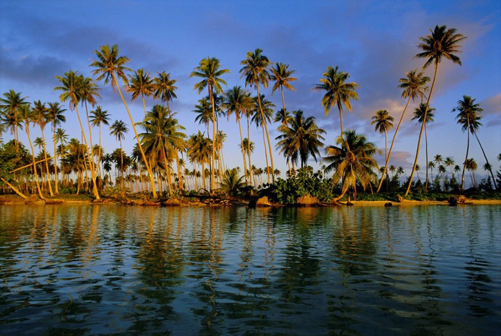Stock Photo: 1890-75242 East coast, Motu Nao Nao, Raiatea Island, Society Islands archipelago, French Polynesia, South Pacific, Pacific