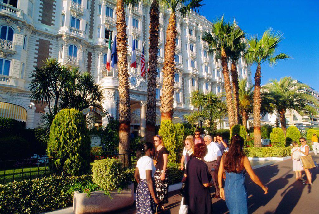 Stock Photo: 1890-75371 Hotel Carlton, La Croisette, Cannes, Cote d´Azur, Provence, France