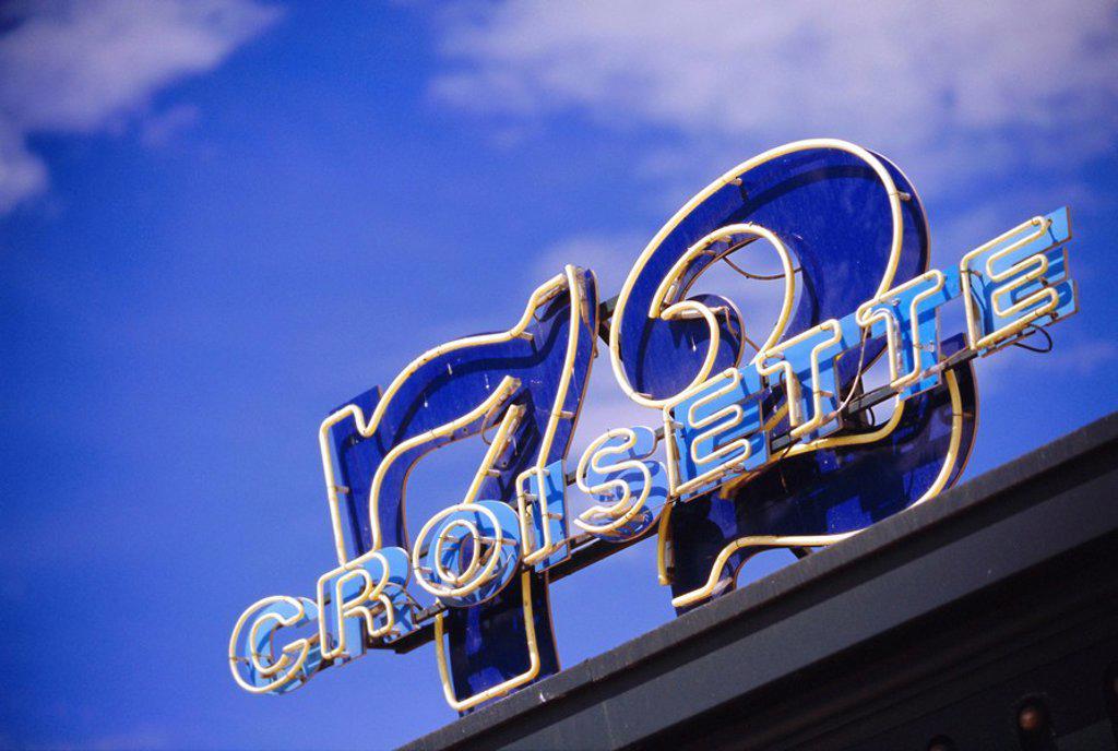 72 Croisette sign, Cannes, Cote d´Azur, France : Stock Photo