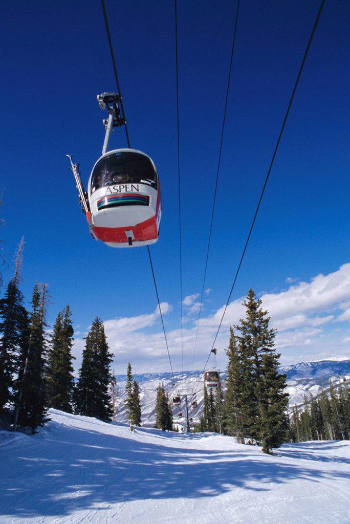 Aspen Ski Lift, Colorado, USA : Stock Photo